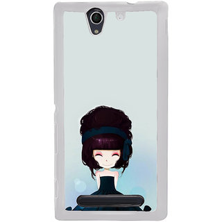 ifasho Cute Girl with Ribbon in Hair Back Case Cover for Sony Xperia C4