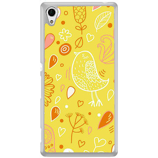 ifasho Animated Pattern colrful design cartoon flower with leaves Back Case Cover for Sony Xperia Z3 Plus