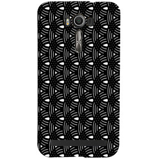 ifasho Animated Pattern design black and white semi circle in royal style Back Case Cover for Asus Zenfone 2 Laser ZE601KL