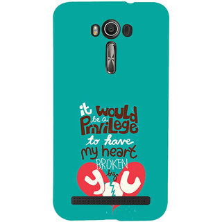 ifasho Heart Break Girl Back Case Cover for Asus Zenfone 2 Laser ZE601KL
