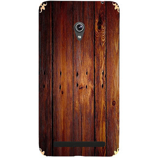 ifasho Animated Royal Pattern with Wooden back ground Back Case Cover for Asus Zenfone 6