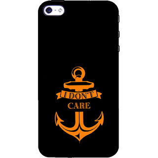 ifasho I dont care quotes Back Case Cover for Apple iPhone 5