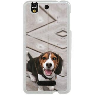 ifasho Grey Dog Back Case Cover for Yureka