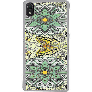 ifasho Animated Pattern colrful flower and butterfly Back Case Cover for Sony Xperia Z3