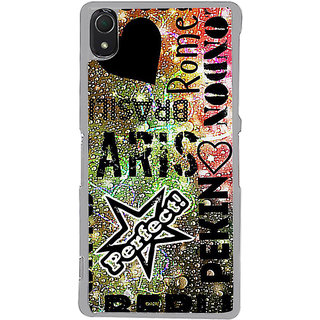 ifasho water Drop on Colurful love and city names Back Case Cover for Sony Xperia Z3