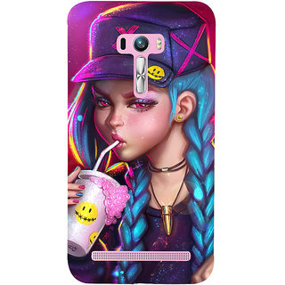 ifasho Girl drinking cold drink Back Case Cover for Asus Zenfone Selfie