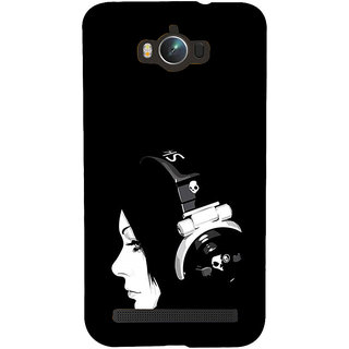 ifasho Girl with headphone Back Case Cover for Asus Zenfone Max