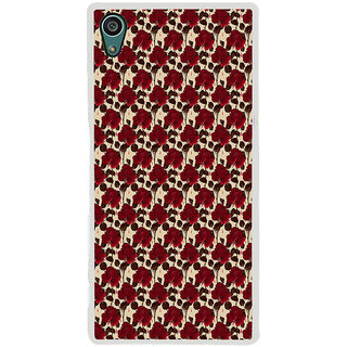ifasho Animated Pattern rose flower with leaves Back Case Cover for Sony Xperia Z5