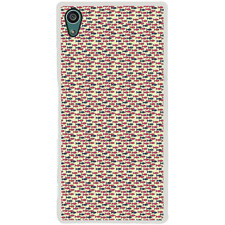 ifasho Modern Art Design Pattern Lot of fish Back Case Cover for Sony Xperia Z5