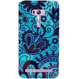 ifasho Animated Pattern design colorful flower in royal style Back Case Cover for Asus Zenfone Selfie