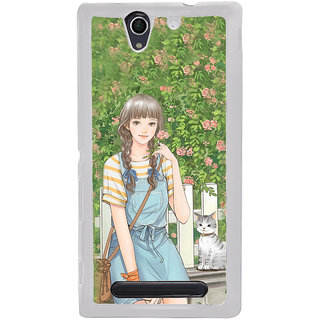ifasho Girl in park Back Case Cover for Sony Xperia C4