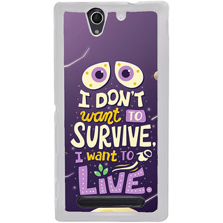 ifasho life Quotes Back Case Cover for Sony Xperia C4