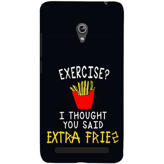 ifasho Quotes on exercise Back Case Cover for Asus Zenfone 6