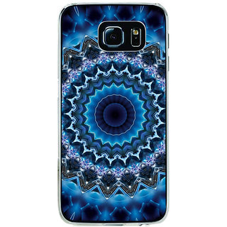 ifasho Animated Pattern design colorful flower in royal style Back Case Cover for Samsung Galaxy S6