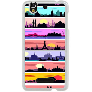 ifasho Modern Art Design Pattern tower temple building Back Case Cover for Yureka