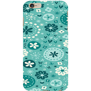 ifasho Modern Art Design animated cloth Pattern of flower Back Case Cover for Apple iPhone 6S Plus