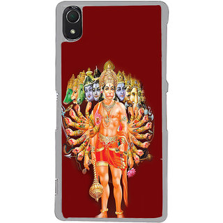ifasho Lord Hanuman Back Case Cover for Sony Xperia Z3