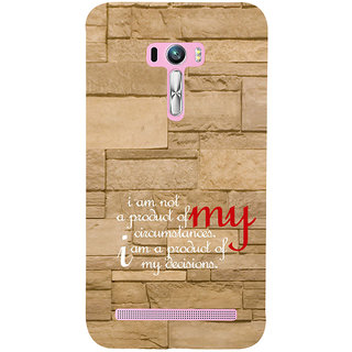 ifasho Kowledge quotes on stone pattern  Back Case Cover for Asus Zenfone Selfie