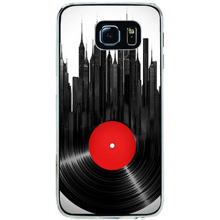 ifasho gramophone recod animated design as tower Back Case Cover for Samsung Galaxy S6