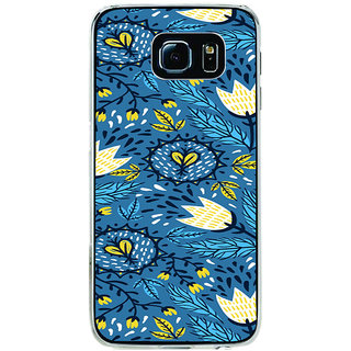 ifasho Animated Pattern colrful design flower with leaves Back Case Cover for Samsung Galaxy S6