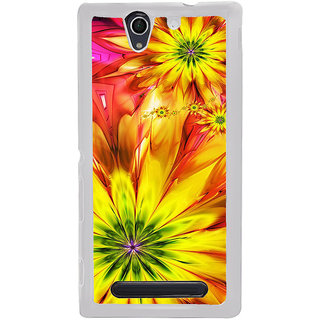 ifasho Flower Design multi color Back Case Cover for Sony Xperia C4