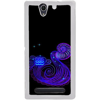 ifasho zodiac sign aquarius Back Case Cover for Sony Xperia C4