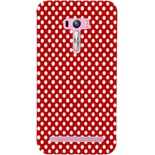 ifasho Animation Clourful white Circle on red background Pattern Back Case Cover for Asus Zenfone Selfie
