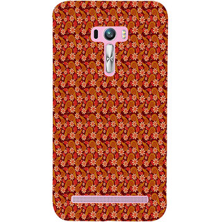 ifasho Animated Pattern colrful design flower with leaves Back Case Cover for Asus Zenfone Selfie