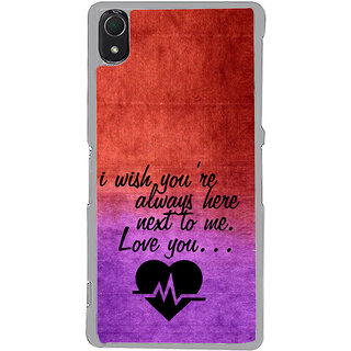ifasho Love Quote Back Case Cover for Sony Xperia Z3