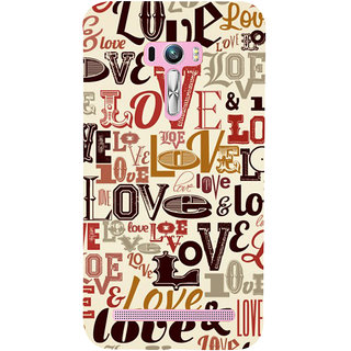 ifasho Love pattern Back Case Cover for Asus Zenfone Selfie