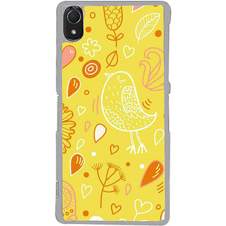 ifasho Animated Pattern colrful design cartoon flower with leaves Back Case Cover for Sony Xperia Z3
