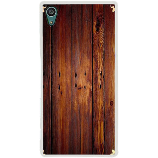 ifasho Animated Royal Pattern with Wooden back ground Back Case Cover for Sony Xperia Z5