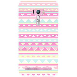 ifasho multi color 3Diangular and love Pattern Back Case Cover for Asus Zenfone Selfie