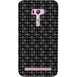 ifasho Modern Theme of black and white Squre and dots Back Case Cover for Asus Zenfone Selfie