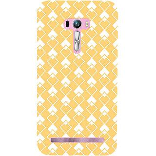 ifasho Orange Colour rectangular Pattern Back Case Cover for Asus Zenfone Selfie