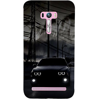 ifasho Black Car Back Case Cover for Asus Zenfone Selfie