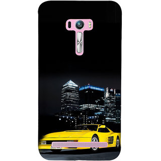ifasho Stylish Yellow Car Back Case Cover for Asus Zenfone Selfie