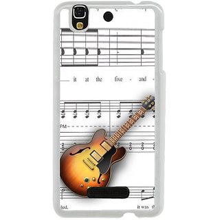 ifasho Modern Art Design Pattern Music Instrument Guitar Back Case Cover for Yureka