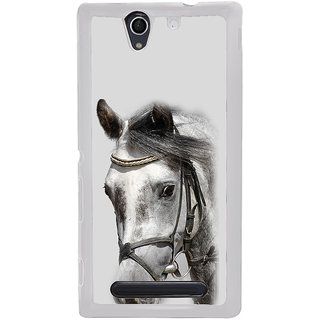 ifasho Designed Painting Horse Back Case Cover for Sony Xperia C4
