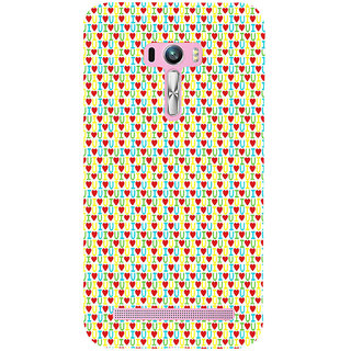 ifasho Animated Pattern With Love and heart and I love you Back Case Cover for Asus Zenfone Selfie