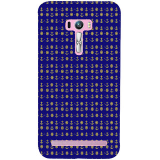 ifasho Modern Art Design Pattern with Lot Of small anchor and disc Back Case Cover for Asus Zenfone Selfie