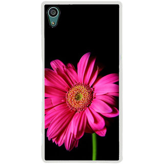 ifasho Flower Design Pink flower in black background Back Case Cover for Sony Xperia Z5