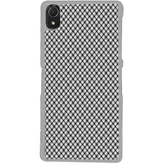 ifasho Design lines pattern and square pattern Back Case Cover for Sony Xperia Z3