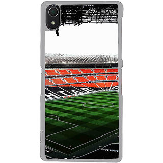 ifasho Football stadium field Back Case Cover for Sony Xperia Z3