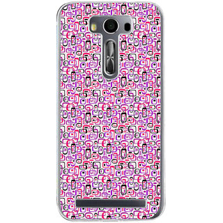 ifasho Colour Full Squre Pattern Back Case Cover for Zenfone 2 Laser ZE500KL