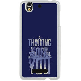 ifasho Thinking of you Back Case Cover for Yureka
