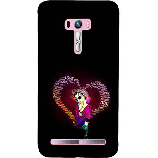 ifasho Animated Pattern With Love and heart and Ishq Back Case Cover for Asus Zenfone Selfie