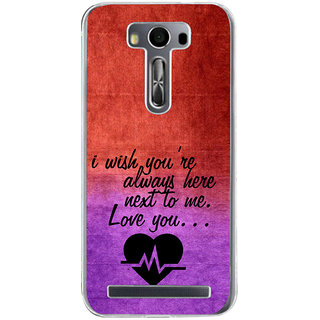 ifasho Love Quote Back Case Cover for Zenfone 2 Laser ZE500KL