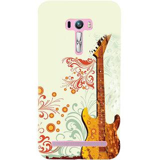 ifasho Modern Art Design Pattern Music Ins3Dument Guitar Back Case Cover for Asus Zenfone Selfie