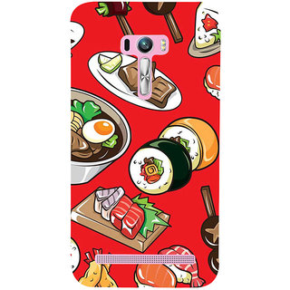 ifasho Animated food pattern Back Case Cover for Asus Zenfone Selfie